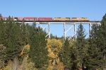 UP 4782 heading east across the Clio Trestle